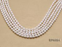 Wholesale 6.5x8mm Classic White Rice-shaped Freshwater Pearl String EPW084
