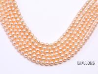 Wholesale 8x10.5mm Pink Rice-shaped Freshwater Pearl String EPW085