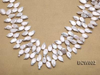 Wholesale 10x19mm Classic White Irregularly-shaped Pearl String BCW002 Image 1