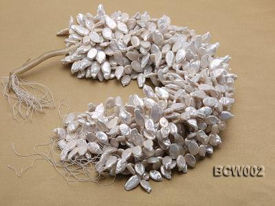 Wholesale 10x19mm Classic White Irregularly-shaped Pearl String BCW002 Image 4