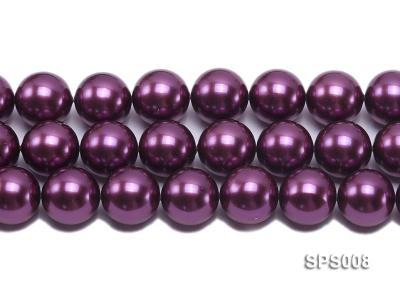 Wholesale 20mm Round Wine Red Seashell Pearl String SPS008 Image 2