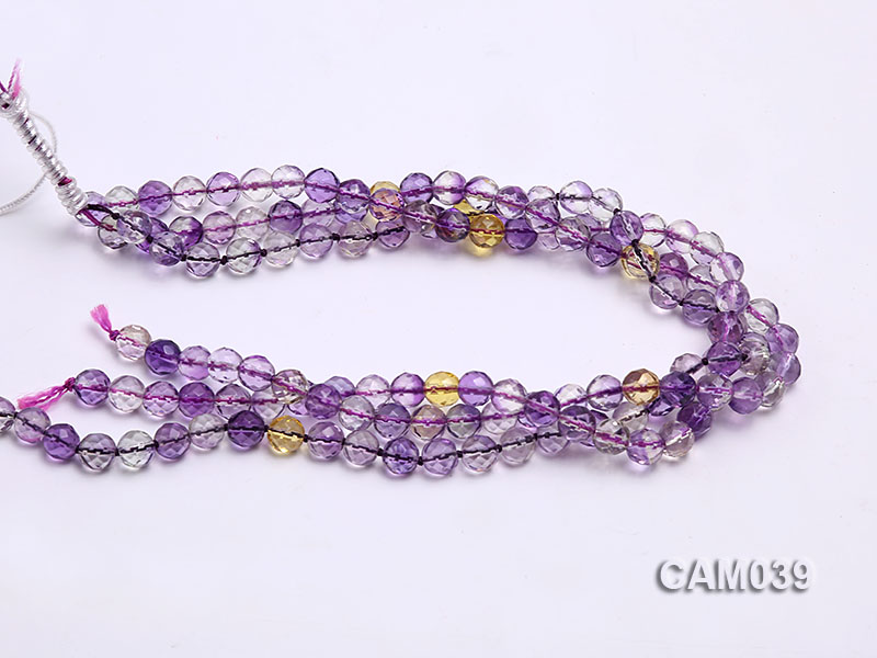 Wholesale 8mm Round Translucent Faceted Amerine Beads String big Image 3