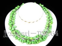 12x8.5mm light green irregular Turquoise Necklace TQN064