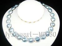 17-21mm mabe pearl necklace with sterling sliver clasp  MP030