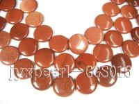 wholesale 31mm round flat Golden stone strings GGS016