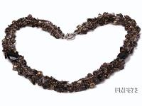 Smoky Quartz and Freshwater Pearl Necklace FNF673