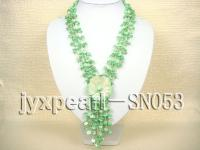 4 strand 7x9mm green shell necklace SN053