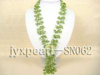 Four-strand Green Shell Necklace with a Shell Flower SN062