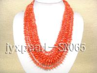 8 strand red 6-9mm shell necklace SN065