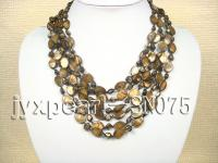 Eight-strand Brown Shell Necklace SN075