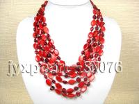 Eight-strand Red Shell Necklace SN076