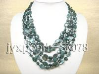 Six-strand Dark-green Shell Necklace SN078