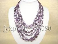 6 strand purple shell necklace SN080