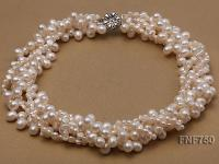 Multi-strand White Cultured Freshwater Pearl Necklace FNF750