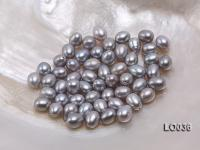 Wholesale 7.5X10mm Silver Drop-shaped Loose Freshwater Pearls LO036