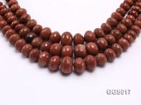 wholesale 8-18mm wheel-shaped Goldstone strings GGS017