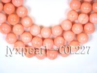 wholesale 18mm pink round sponge coral strings  COL227