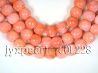 wholesale 20x23mm pink drum sponge coral strings  COL228