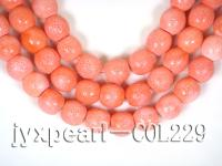 wholesale 20x20mm pink flat circular sponge coral strings  COL229