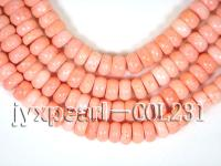 wholesale 5x12mm pink flat circular sponge coral strings  COL231