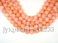 wholesale A-grade 12mm pink round sponge coral strings  COL233