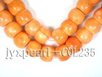 wholesale 22x30mm orange flat circular sponge coral strings  COL235