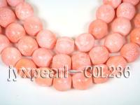 wholesale 18.5x18.5mm pink drum sponge coral strings  COL236