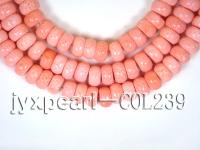 wholesale 14x8.5mm pink Flat circular sponge coral strings  COL239