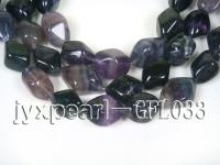 wholesale 15x20mm irregularly shaped fluorite semi-finished product GFL033