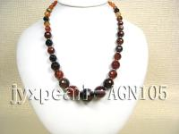 8-18mm colorful round faceted illusion agate necklace  AGN105