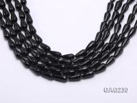 wholesale 8x16mm drip-shaped black faceted agate strings GAG230