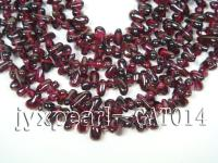 wholesale 4x8mm dark red garnet chip strings  GAT014