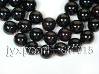 Wholesale Quality 16mm Dark Red Round Garnet String GAT015