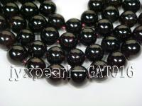 wholesael 14mm round dark red garnet strings GAT016