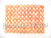 12x14mm bright light orange Loose Coral Beads COL196