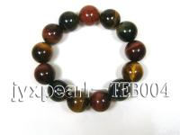 16.3mm colorful round natural tiger eye bracelet  TEB004
