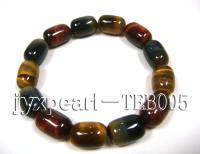 10.5x15mm colorful cylindrical natural tiger eye bracelet  TEB005