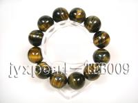 20mm round natural tigereye bracelet TEB009