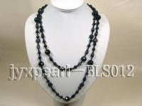 12.2mm flower shape blue sand stone with oval blue sand and agate necklace BLS012