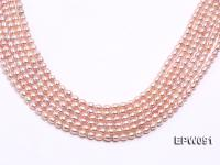Wholesale AAA-grade 5x6mm Pink Rice-shaped Freshwater Pearl String EPW091
