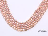 Wholesale AAA-grade 8X10mm Pink Rice-shaped Freshwater Pearl String EPW092