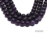 Wholesale 20mm Round Translucent Natural Amethyst Beads String CAM057