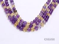 Wholesale 10.5mm Round Translucent Faceted Ametrine Beads String CAM059