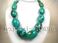 25x40-45x55mm green oval natural Turquoise Necklace  TQN075