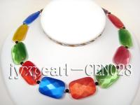 25x20mm colorful  faceted cat's eye necklace CEN028