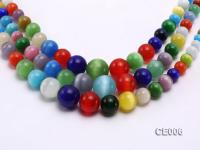 Wholesale 8-18mm Round Colorful Cat's Eye String CE006