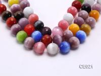 Wholesale 19mm Round Faceted Colorful Cat's Eye String CE021