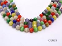 Wholesale 11mm Round Faceted Colorful Cat's Eye String CE023