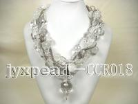 Rock Crystal Necklace and Bracelet Set CCR018