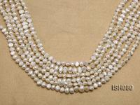 Wholesale 4x7mm Classic White Flat Freshwater Pearl String ISH080